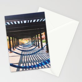 the beach and shadows Playa del Carmen Stationery Cards