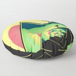 Spinning Disc Golf Baskets 5 Floor Pillow