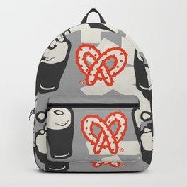 beer loves pretzels Backpack