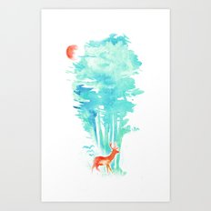 Summer in the Woods Art Print