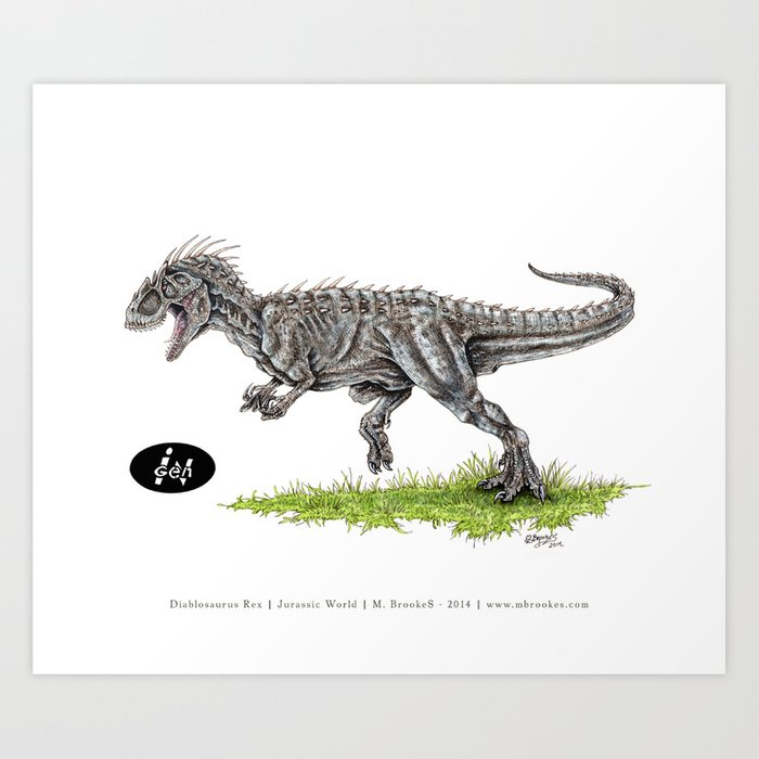 Jurassic World - Indominus Rex (I-Rex) Art Print by mbrookes