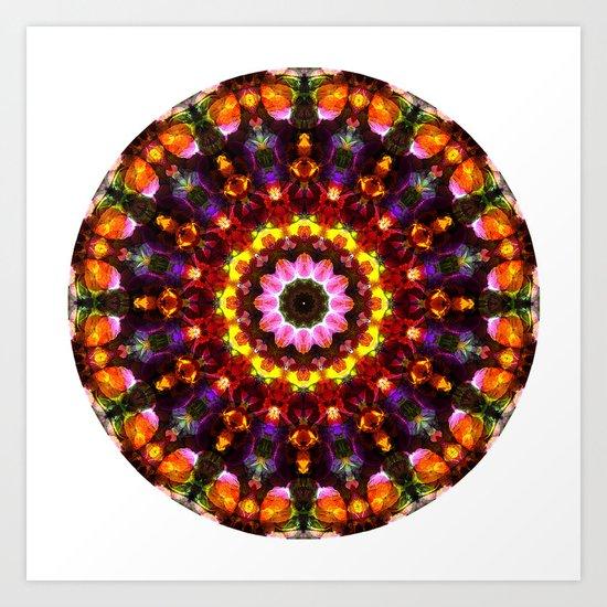 Pansy Kaleidoscope Art Print