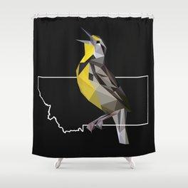 Montana – Western Meadowlark (Black) Shower Curtain