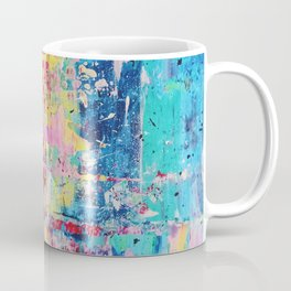 Pastel Gerhard Richter Inspired Acrylic Painting Coffee Mug