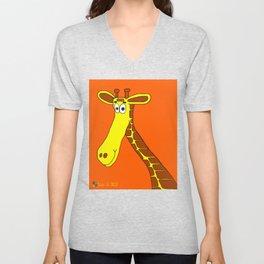 Smiling Giraffe Unisex V-Neck