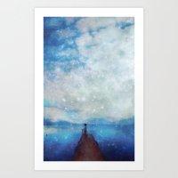 sleep Art Prints featuring Sleep by  Maʁϟ