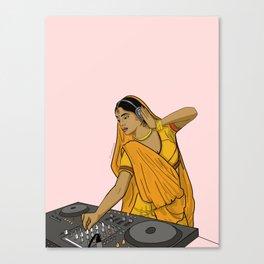 Dj Rani Canvas Print