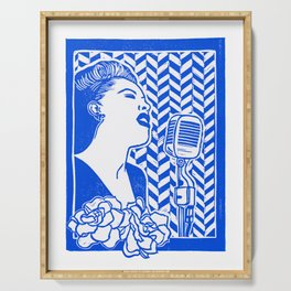 Lady Day (Billie Holiday block print) Serving Tray