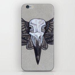 Crow Skull w/Moth Wings iPhone Skin