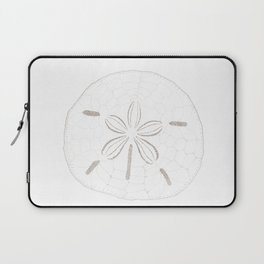 Sand Dollar Dreams - Brown on White Laptop Sleeve