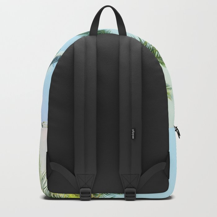 Relaxing Rainbow Color Palms Backpack