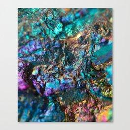 Turquoise Oil Slick Quartz Canvas Print
