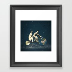 Love Makes The World Go Round Framed Art Print