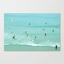 Surfing vintage. Summer dreams Canvas Print