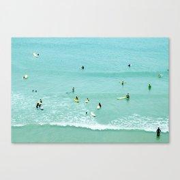 Surfing vintage. Summer dreams Canvas Print