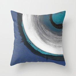 Sapphire Nine Throw Pillow