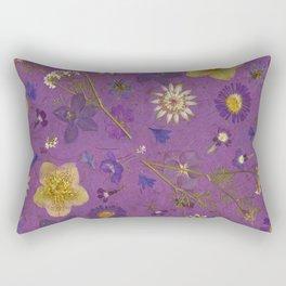 Purple dark floral Rectangular Pillow