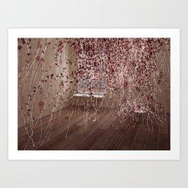 Electric Flowers Art Print
