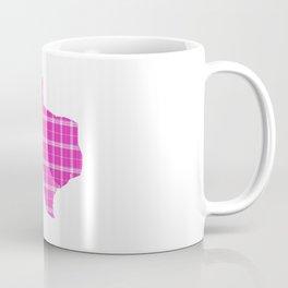 Texas State Shape: Pink Coffee Mug