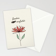 freedom unfolds Stationery Cards