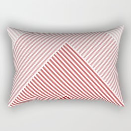 Shades of Red Abstract geometric pattern Rectangular Pillow