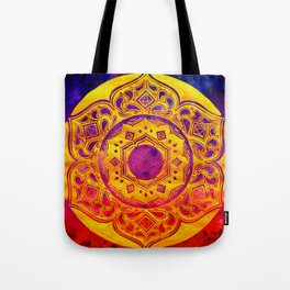 """""""SACRED GEOMETRY"""" WATERCOLOR MANDALA (HAND PAINTED) BY ILSE QUEZADA Tote Bag"""