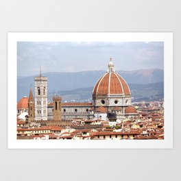 Florence cathedral dome photography Art Print