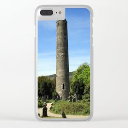 Round Tower Clear iPhone Case