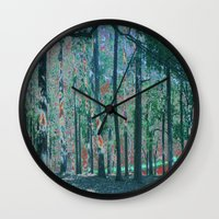 fairies Wall Clocks featuring Woodland Fairies by AriDesigns Studio