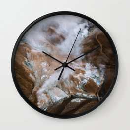 Kerlingarfjöll Mountain Range In Iceland - Landscape Photography Wall Clock