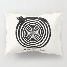 Hypnotic Black Cat Pillow Sham