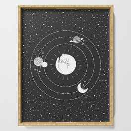 The Space Cat Serving Tray