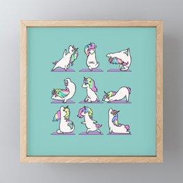 Unicorn Yoga Framed Mini Art Print