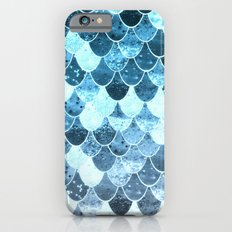 REALLY MERMAID SILVER BLUE Slim Case iPhone 6