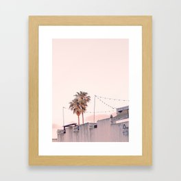 Pink Palms at Sunrise Framed Art Print