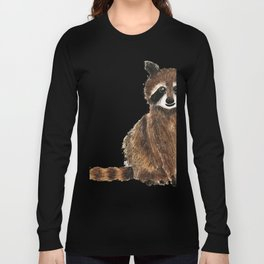 baby raccoon watercolor Long Sleeve T-shirt