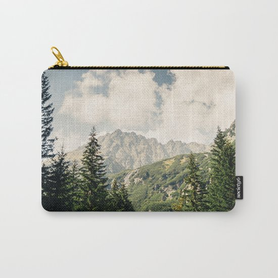 Green Summer Mountains Carry-All Pouch