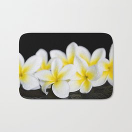 Plumeria obtusa Singapore White Bath Mat