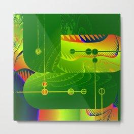 Great Green Frac 3 Metal Print