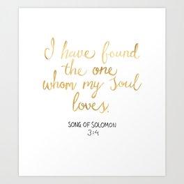 Song of Solomon 3:4 - Customer Request Art Print
