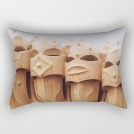 Casa Milà Artwork | Antoni Gaudì | Barcelona Spain | Travel Wall art analog Art print Rectangular Pillow
