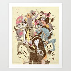 The Great Horse Race! Art Print