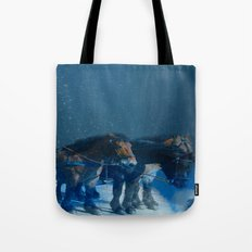 Horse drawn carriage from the sky Tote Bag