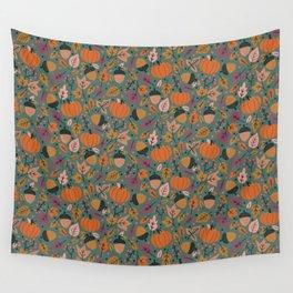 Fall Pumpkin Field Wall Tapestry
