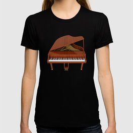 Grand Piano with Wood Finish T-shirt