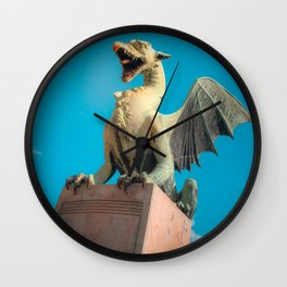 Ljubljana Dragon Wall Clock
