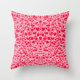 heart lace Throw Pillow