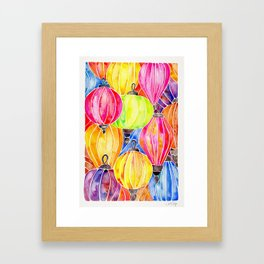Vietnamese Rainbow Lanterns Framed Art Print