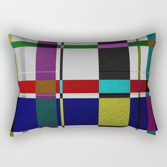 Streets Of Foil Rectangular Pillow