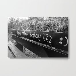 already smiled today? Metal Print